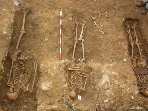Trabajos de exhumación en Valdenoceda