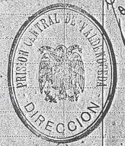 Sello oficial de la Prisión Central de Valdenoceda