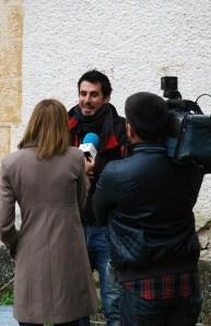 Cuatro entrevista a Eneko. Foto: José L. Sempere