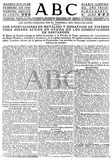 Diario ABC del 19 de febrero de 1941