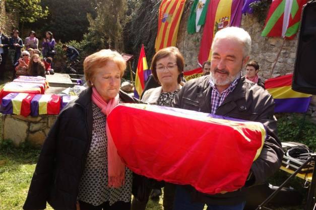 La familia de Vicente Tercilla recogió sus restos. Foto: Jokin Garmilla