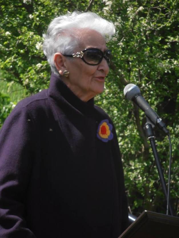 Hilda Farfante: Pura energía. Puro grito. Foto: Anabel Lapuente